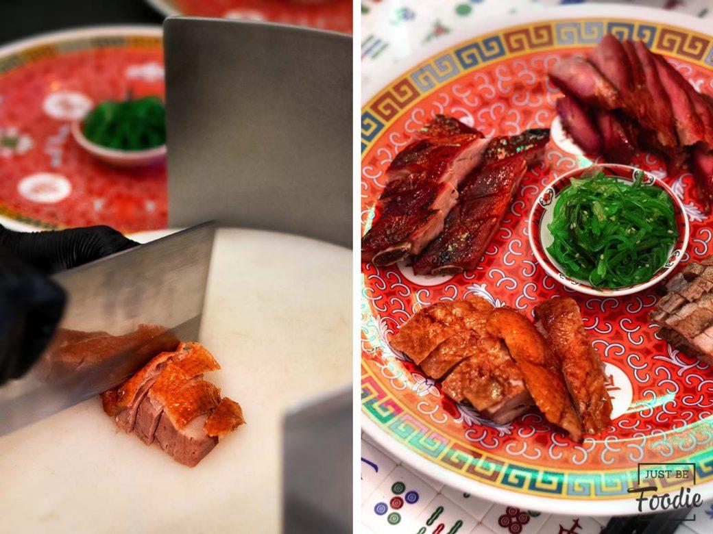Pato asado comida cantonesa en madrid