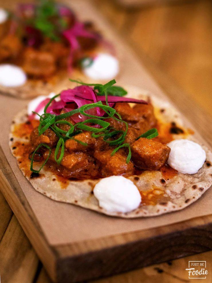 Tacos Curry en Barcelona Masala73