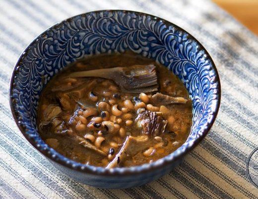 receta carillas con alcachofas