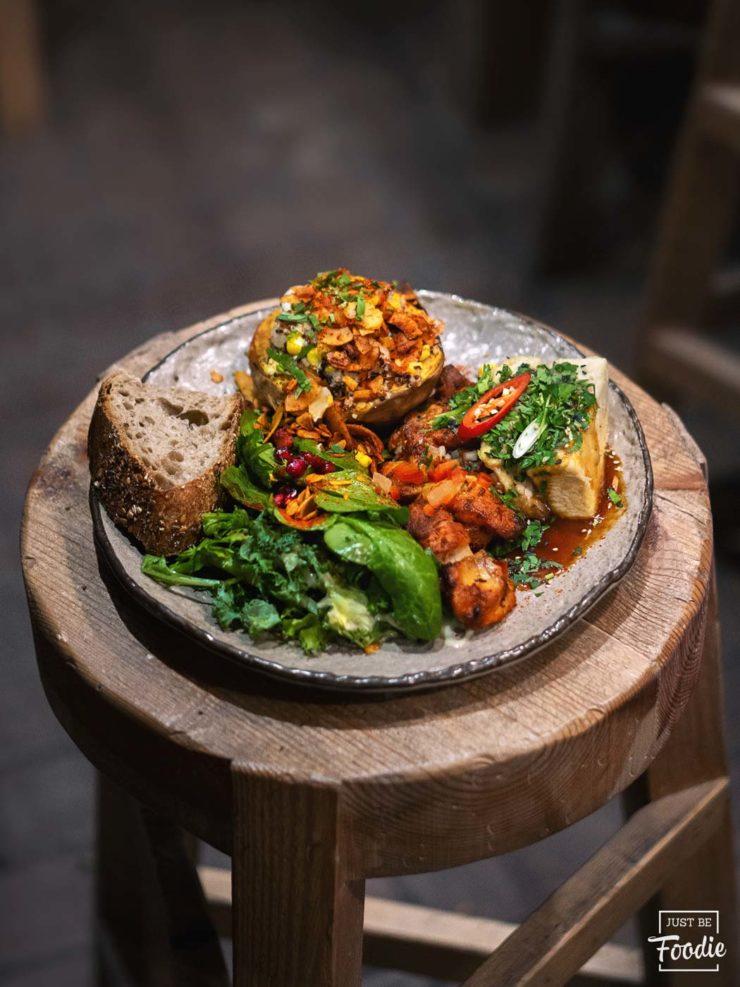 Pollo HONEST GREENS restaurante comida sana madrid